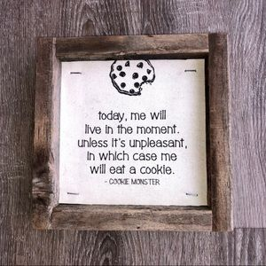 Cookie Monster Plaque